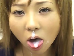 18 year old Momo Hoshino works hard to earn messy facial rewards throughout this movie!video