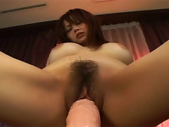 When she\'s alone, Rina Wakamiya does not hesitate having some form of fun. She always has her favorite sex toy around, a huge rubber cock, to keep her company. Rina goes and has herself some quiet time!video