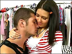 Timo has prepared a little surprise for Jennifer - this pink kerchief perfectly suits her beautiful face, and she willingly opens nasty mouth to suck his fat knob with her eyes closed... After some hot blowjob Jennifer will offer her both holes for some dirty fucking... This amazing scene ends in a facial cumshot.video