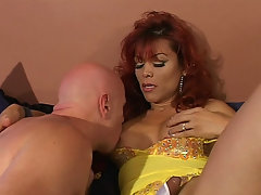 Redhead tranny loves getting her wet asshole reamed deep and hardvideo