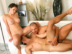 Thomas Friedl and his buddy are living the high life and are looking for some afternoon bisexual delight, so they take out their bi book of babes and call over a hottie who they know will be the lady in their man sandwich! This babe knows her role well, and as she sits down on the couch between her two studly fuck buddies it's totally on! Each one grabs a tit, and then she grabs both their cocks, and from there it's nothing but ass and pussy slamming as these three hotties go for the bi gold!! Bimaxx knows bi and always cranks it out in the highest quality, most sensual scenes MMF scenes online!  video