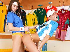 Sporty lesbian sexvideo