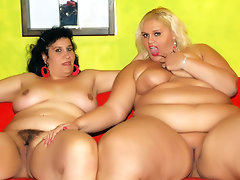 Witness a very meaty girl to girl porn action in this sexy video. See hot chubby chicks Melinda Shy and Rosa, go for a one on one fuckfest. See their juicy pussies and humongous jugs as they pleasure each other. Hear them moan and groan with delight!video