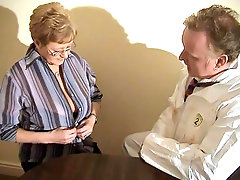 Kay is the kind of grandma who\'s always up for anything. She\'s in her early fifties but she refuses to let age stand in her way. Here she hooks up with a younger guy and goes to work taking a cock in that ripe mature cunt of hers.video