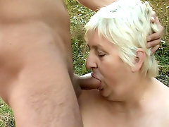 Anna Mary is a chunky older woman that loves nothing more than to get her mouth and pussy plugged by a big dick. She's old and very horny, and always looking for a younger guy to give her a fix. She got one in this movie and fucked him right then and there.video
