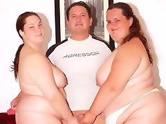 There's nothing like having two horny BBWs double team on your dick. These fatties are hot and they're always eager to fuck. They love the idea of sharing a cock and they don't care who gets screwed first and like to take time to admire the package.video