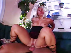 Blonde bombshell get her pussy and ass fuck by a big cock video