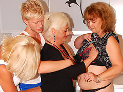 Three mature sluts party with one hard cockvideo