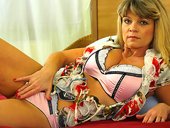 This hot MILF gets wet and wild on her ownvideo