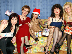 A very naughty old and young lesbian Christmasvideo