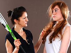 Hot babe must listen to her lesbian tennis teachervideo