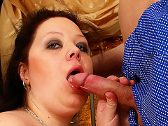 Huge titted mama getting a mouth full of jizzvideo