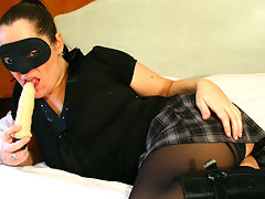 Horny masked mature slut getting wetvideo