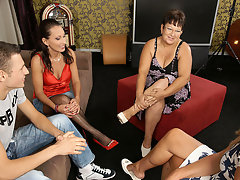 Three mature sluts share one hard cockvideo