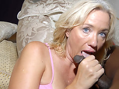 This blonde mature slut just loves black cocksvideo