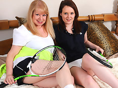 Horny lesbian mature teacher and her horny hot pupilvideo