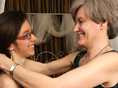 Horny old and young lesbians go at itvideo