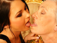 Granny takes her young lesbian maid for a ridevideo