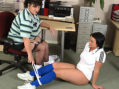 Big titted mom teasing her naughty teen pupilvideo