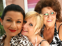 Three mature lesbians have some serious funvideo