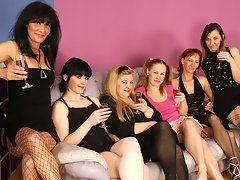 Six old and young lesbians going to town and party hardvideo