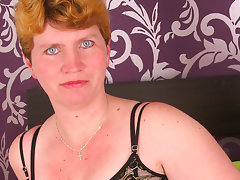 Lonely housewife playing with her beadsvideo