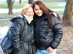 Old and young lesbians Frederica and Rashinda go naughtyvideo