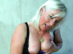 Blonde mama getting her tits filled with cumvideo