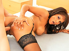 Busty Anjanette Astoria loves her ass bouncing as she fucks her lover in different positionsvideo