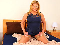 My friends strict mom is caught masturbating on cameravideo