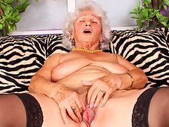 Grandma Betty pleasures her old gray pussy with her fingersvideo