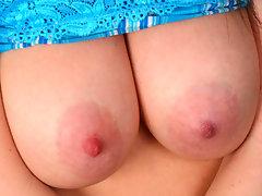 Striking anilos beauty rayveness pleasures her swollen clitoris with a mini vibratorvideo