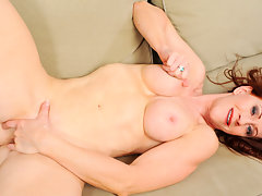 Milf Catherine Desade takes off her lingerie and masturbatesvideo