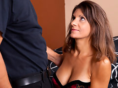 Hot housewife with tan lines rides a hard cock anal stylevideo