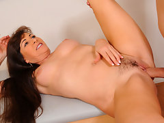Cougar Alexandra Silk bounces her slick pussy on a hard cockvideo