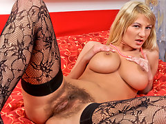 Hairy big tittied Anilos plays with her favorite toyvideo