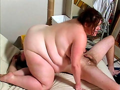 Lusty brunette fatty Bridget Waters likes pleasing bbw-loving hunks by giving them a ride in her fat and juicy cunt. Watch the fat and horny chick mount this stud's hard and throbbing meat sword and get her cock loving sex holes a hard and deep screwing.video