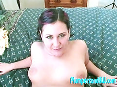 Fattie Sara has shaved her slit just for this occasion. Tyce dives in to her clean shaven clam and laps her pussy like an animal. Spreading her thighs wide open, Tyce penetrates her twat and grips her ass cheeks as she pounds her straight in to the mattress.video