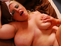 Jen\'s full tits are perfect to nibble! The chubby blonde gets so wet when her nipples are licked that the panties must come off and her fingers must rub her clit until she cums!video