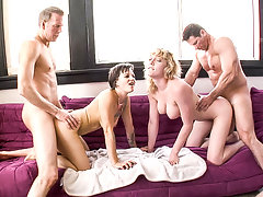Nothing stop horny pussies: they get fucked hard together!video