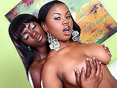 If you love moist young ebony girls, you\\\'ll get double the bang for your buck in this delicious lesbian scene!  Stacked Laylani Star teams up with nubile dark skinned cutie Ana Foxxx for some extremely steamy kissing, pussy licking and dildo fucking.  If you love big tits then Laylani has definitely got a superb pair of heavy, sagging naturals for you to enjoy whereas Ana is skinny, with barely an ounce of fat on her and a perfect set of pert boobies.  The girls take turns eating each other, also using a dildo on each others\\\' holes from the back while they continue their clit stimulation with their tongues.  Some great orgasms here!video