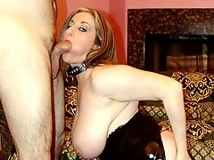 Kitty\'s not your average blonde with fake tits and shaved pierced cunt. She has a natural sexy body and she\'s very proud of it. Watch her show it off to tease a horny hunk and seduce him into submitting his cock for a nasty sucking and gets it hard in her bushy cunt.video