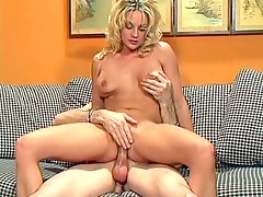 Sindy Lange is a blonde slut with an appetite for pussy fucks. Watch this horny babe show off her hot curves and natural well rounded tits to seduce a guy into pleasuring her sweet looking hirsute cunt. Check her out as she gets it hard drilled by a big cock.video
