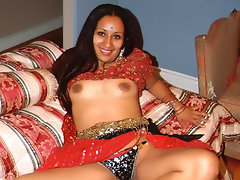Tina here is a real Indian beauty who\'s hot like curry and ready for whatever challenges comes her way. In this scene, she gets to show us her sexy natural tits and spreads her brown thighs wide to show off her hairy pussy.video