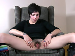 Luna talks about her inner most fantasies and makes herself too horny thinking about it. Watch her swirl a big vibrator inside her wet bush while rubbing her stiff clit.video