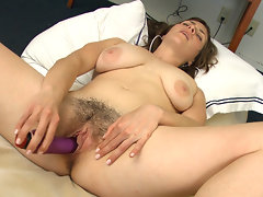 From her hairy legs to her hairy pits, hairy girl Tanya is the real deal. Today she is giving her hairy body some much needed love and affection with the help of her mechanical friend.video