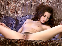 Gorgeous brunette beauty Safo does a sexy little strip tease while she shows off her perky tits before she pulls off her stockings and panties, then shows the world the gorgeous bush that she has!video