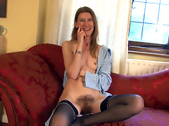 Katie Daze loves to be a hairy girl. She loves to stroke her hairy pussy and belly button, as well as her hairy arm pits. Her sexual partners love her hairiness, both the men and the women!video