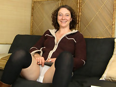 In her white panties and black stockings, hairy girl Artemesia talks about her favorite parts of being a naturally hairy woman. She never shaves or trims; she is proud of her hairy pussy!video