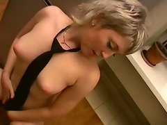 Enjoy Anna V's talents as she reveals just how much she can fit in her hairy pussy.video